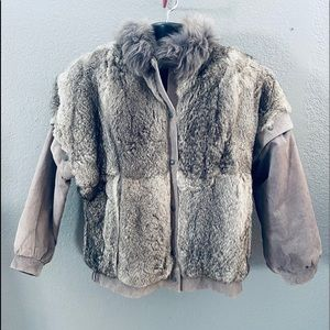 Gorgeous Gray Genuine Rabbit Fur Coat / Vest